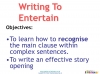 Writing to Entertain (slide 68/149)