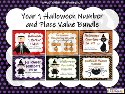 Year 1 Halloween Number and Place Value Bundle