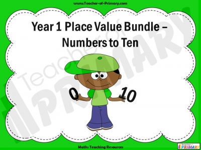 Year 1 Place Value Bundle – Numbers to Ten