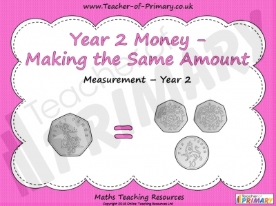 Year 2 Money - Making the Same Amount
