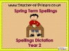 Year 2 Spring Term Spellings (slide 1/22)