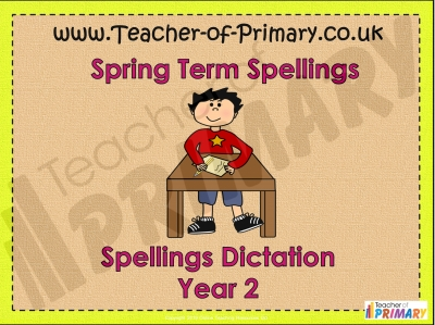Year 2 Spring Term Spellings
