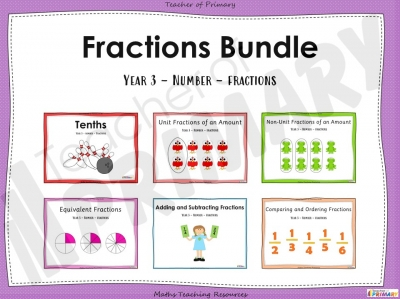 Year 3 Fractions Bundle teaching resource